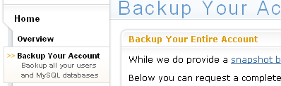 DreamHost - Backup